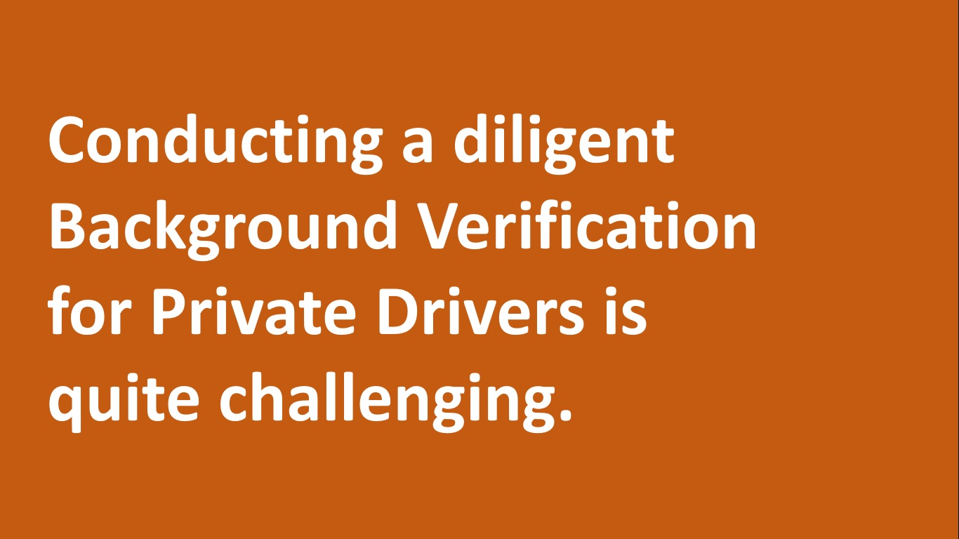 online police verification for drivers