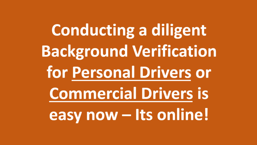 Police Verification Driver